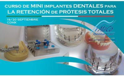 Curso mini implantes Septiembre 2018 CDMX.